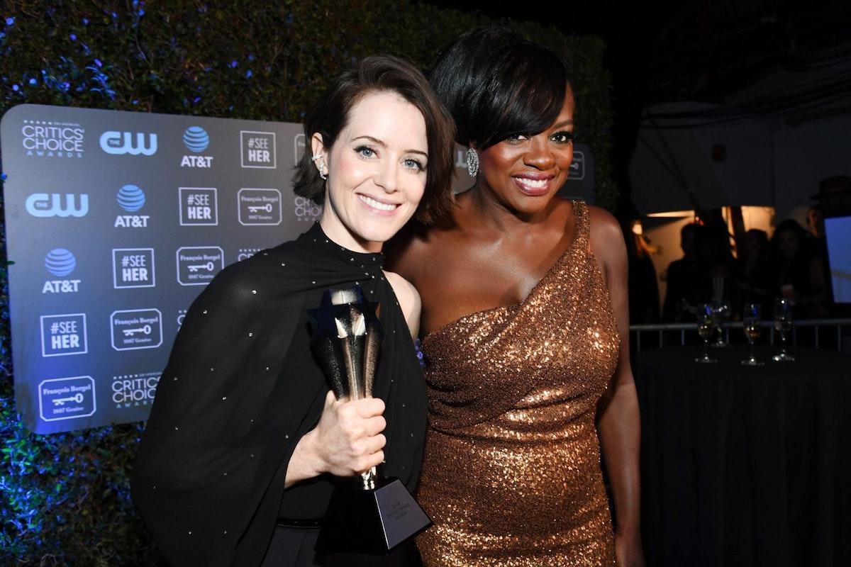 Claire Foy and Viola Davis at the 2019 Critics Choice Awards