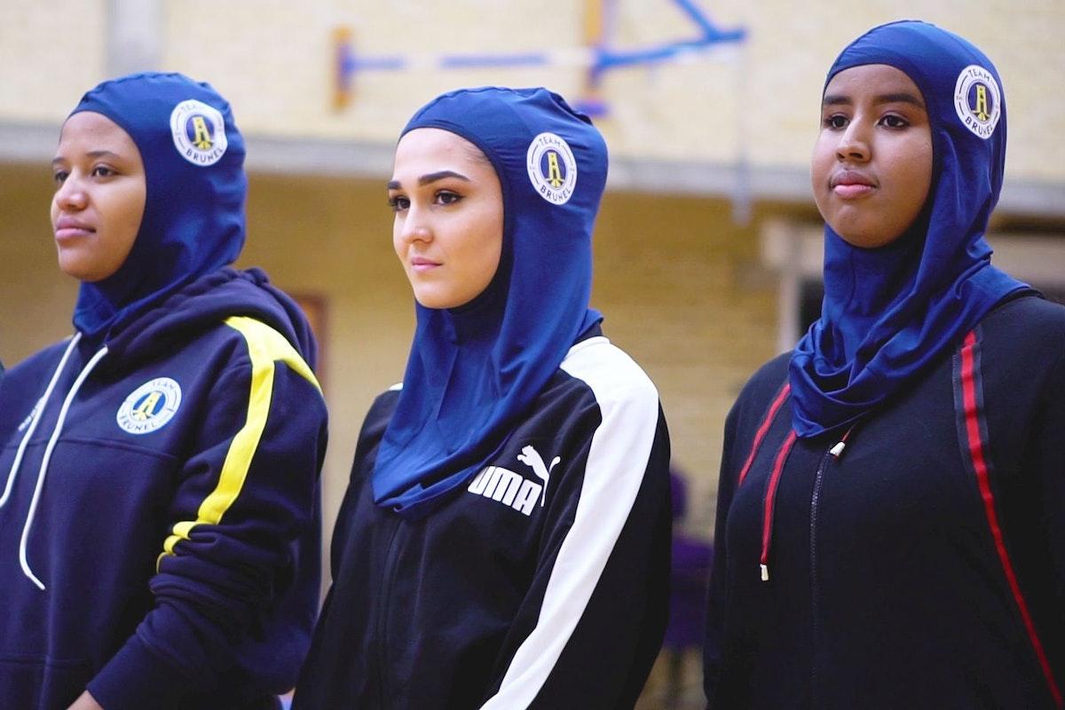 Brunel University has introduced a new sports hijab. Image: Brunel University London