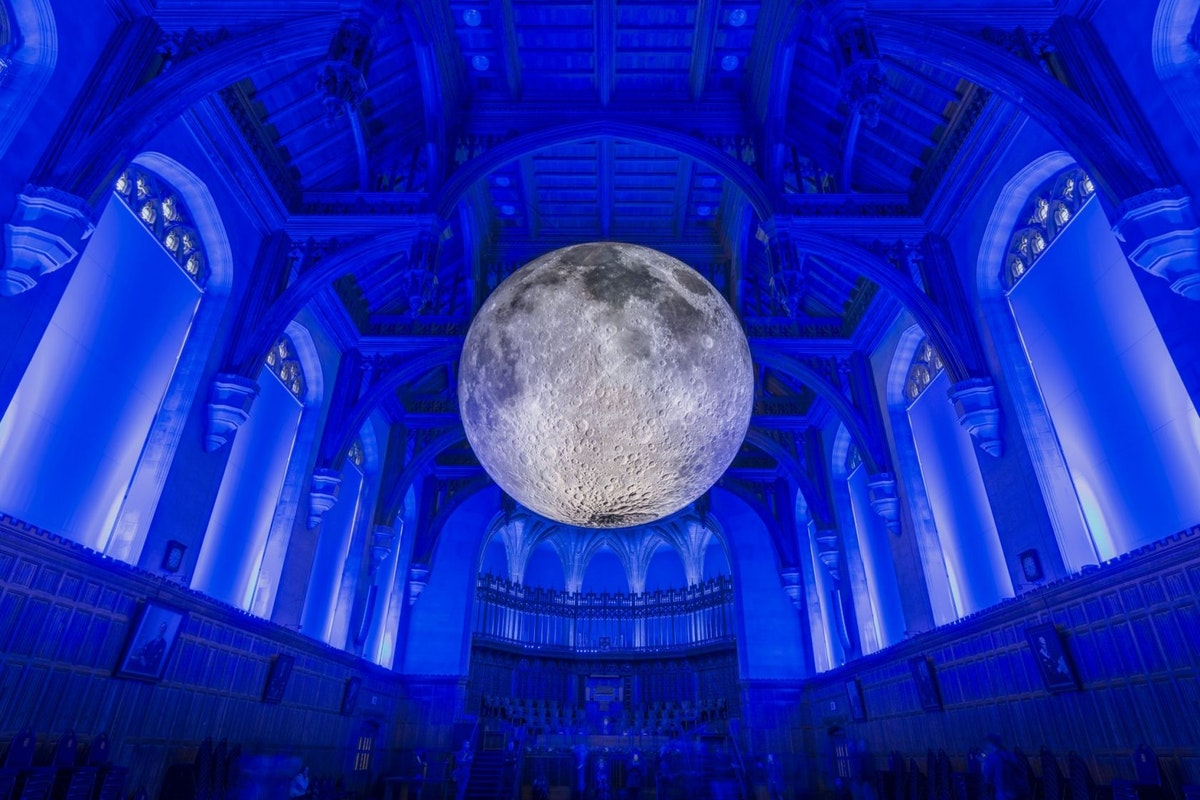 Yoga under the moon at The Natural History Museum