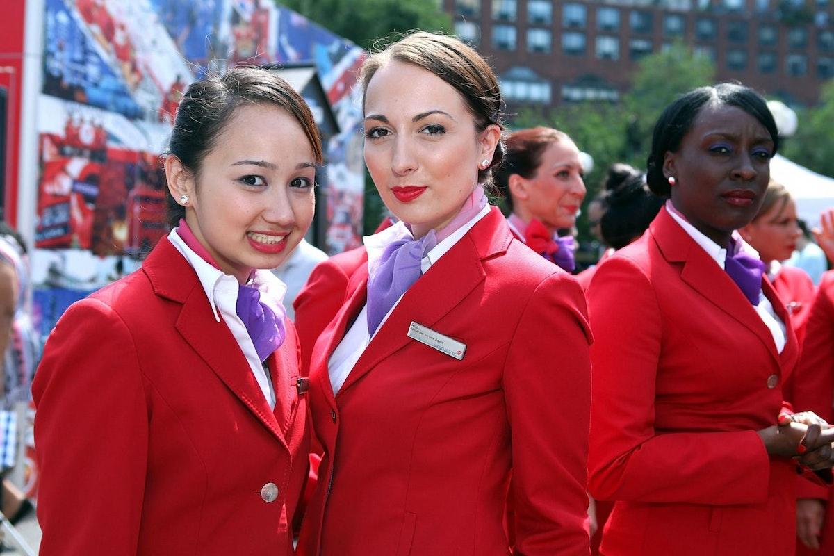 Flight attendants for Virgin Atlantic