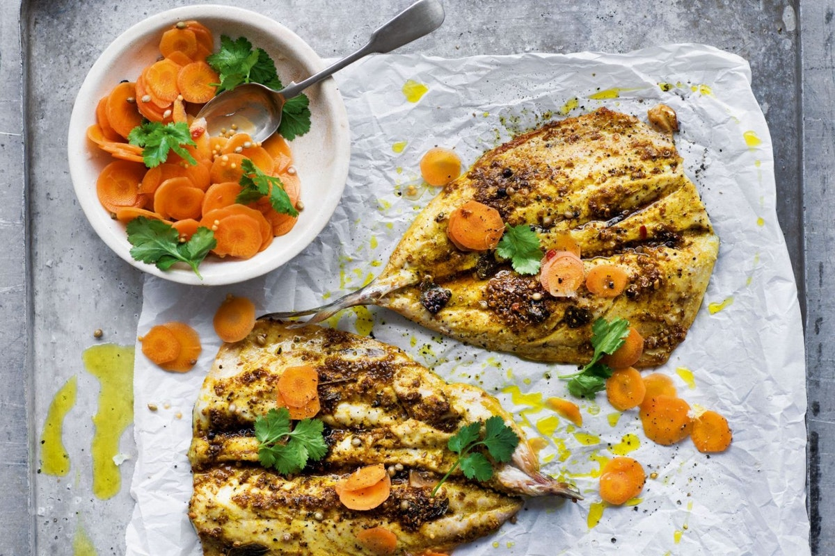 Grilled Mauritian spiced butterflied mackerel recipe