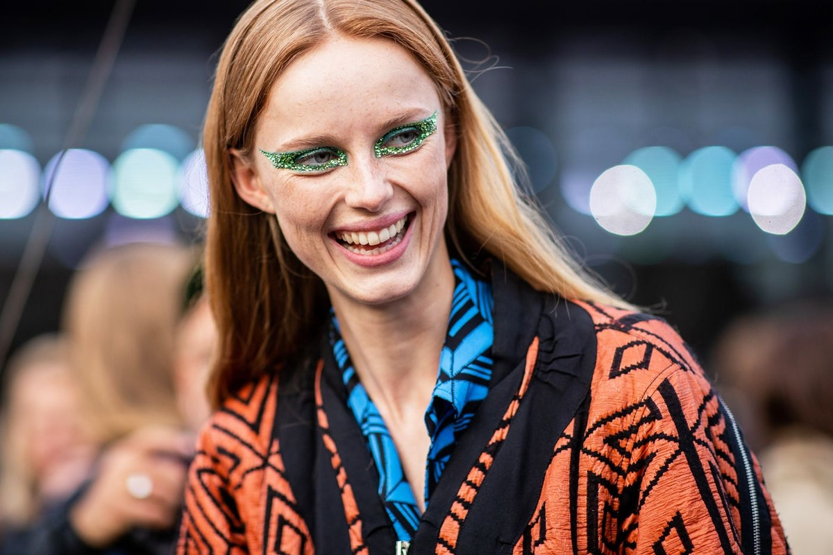 Festival make-up ideas and inspiration: Valentino SS19 glitter eyes