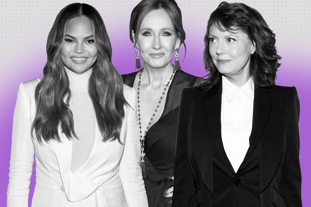 Chrissy Teigen, Susan Sarandon and JK Rowling