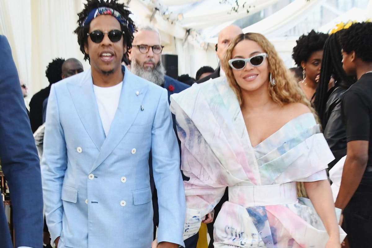 LOS ANGELES, CA - FEBRUARY 09: (EDITORS NOTE: Retransmission with alternate crop.) Beyonce and Jay-Z attend 2019 Roc Nation THE BRUNCH on February 9, 2019 in Los Angeles, California. (Photo by Kevin Mazur/Getty Images for Roc Nation )