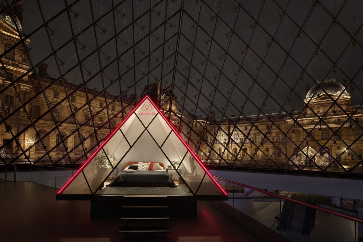 Airbnb inside the Louvre
