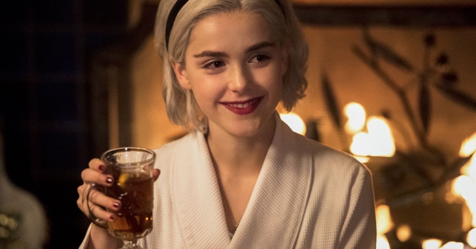 The Exact Red Lipstick Sabrina Spellman Wears Chilling