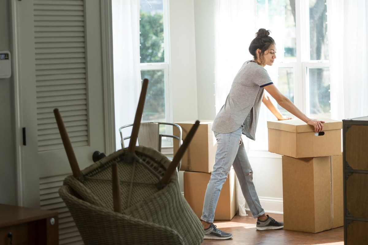 Woman evicted from house packing