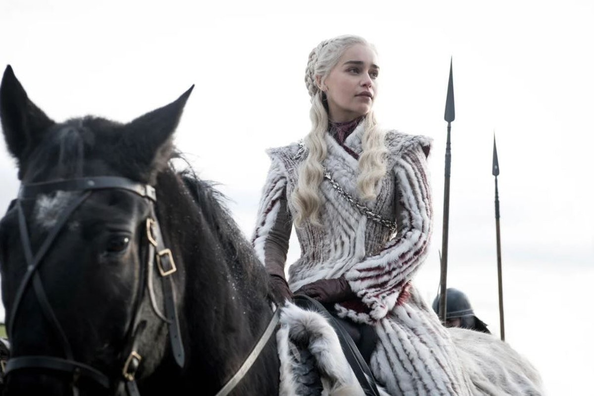 Emilia Clarke as Daenerys Targaryen in Game of Thrones season 8 episode 2