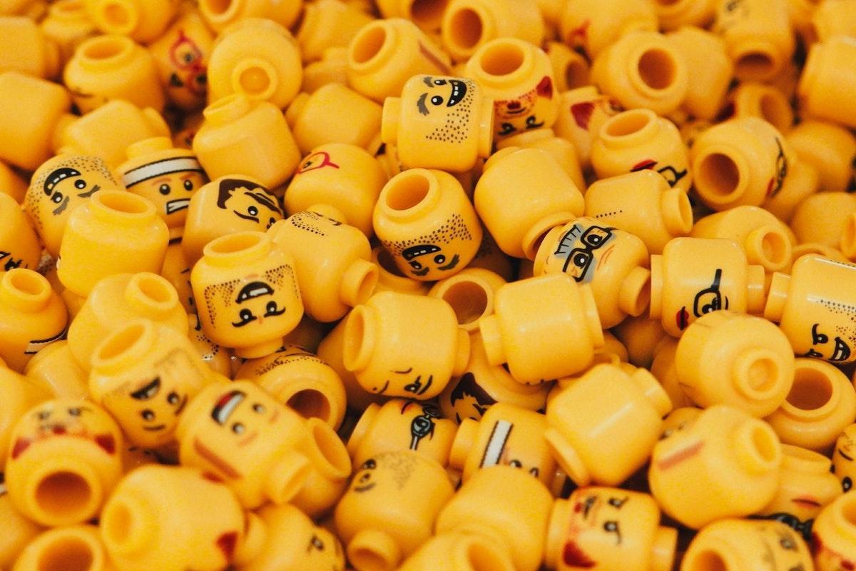 Assortment of male lego heads