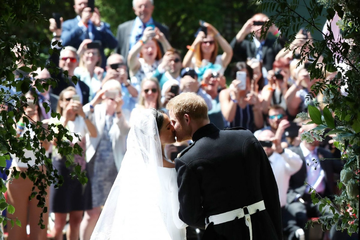 Prince Harry and Meghan Markle share unseen wedding photos on their first anniversary